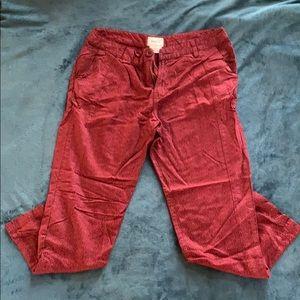 RVCA Red Pattern Pants, 27